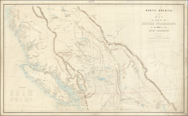 86-Western Canada and British Columbia Map By Topographical Depot, War Office / Sir Howard Craufur