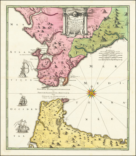 85-Spain Map By Johann Baptist Homann