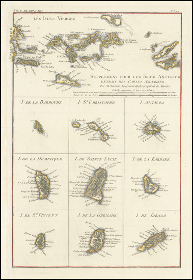 98-Virgin Islands and Other Islands Map By Rigobert Bonne