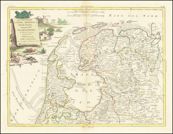 64-Netherlands Map By Antonio Zatta