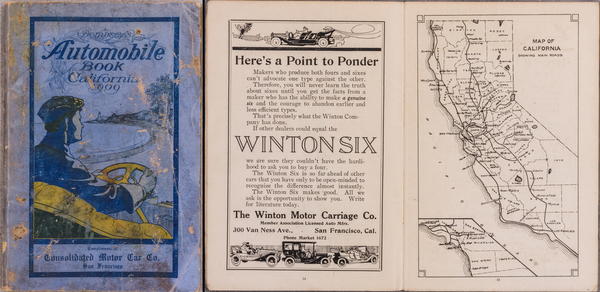 90-Atlases Map By Consolidated Motor Car Company / H. H. Dempsey Company