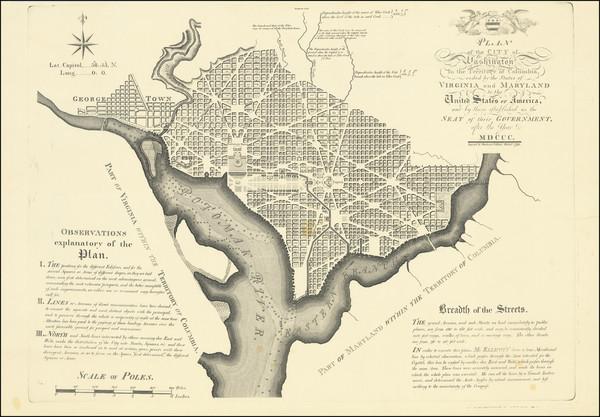 10-Washington, D.C. Map By Andrew Ellicott