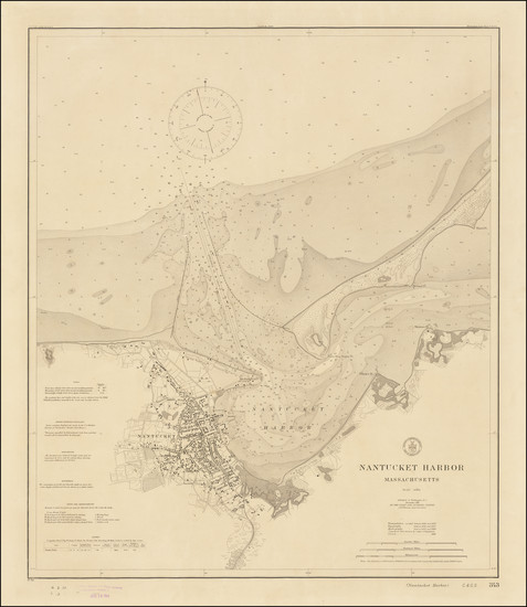 90-Massachusetts Map By U.S. Coast & Geodetic Survey