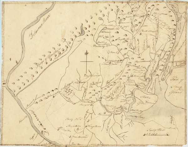 83-New York City, New York State, New Jersey and American Revolution Map By Anonymous