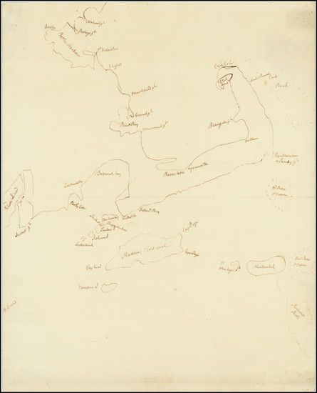 86-New England, Massachusetts and Boston Map By Anonymous
