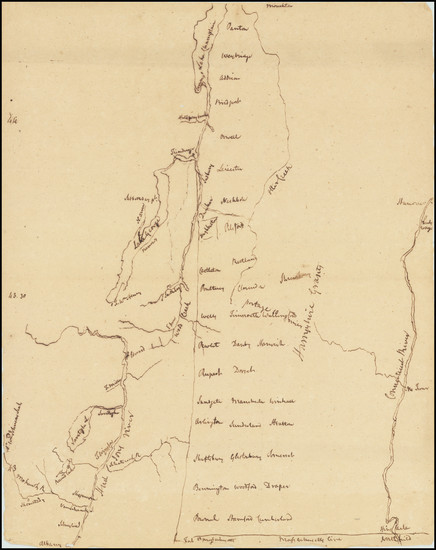 68-New England, New Hampshire, Vermont and New York State Map By Anonymous