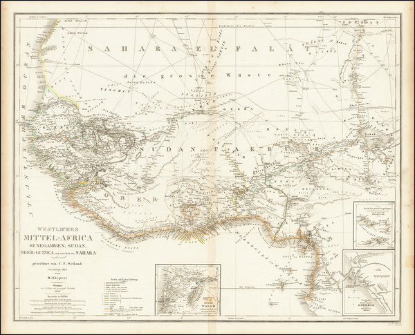 100-West Africa Map By Heinrich Kiepert