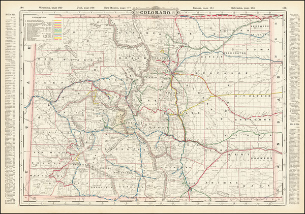 38-Colorado and Colorado Map By George F. Cram