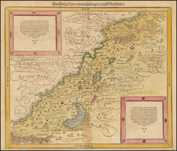 6-Holy Land Map By Sebastian Munster