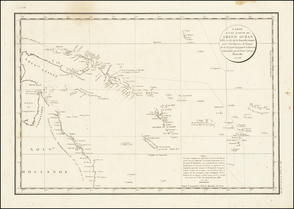 92-Australia and Other Pacific Islands Map By Jean Francois Galaup de La Perouse