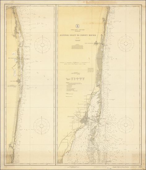 18-Florida Map By U.S. Coast & Geodetic Survey