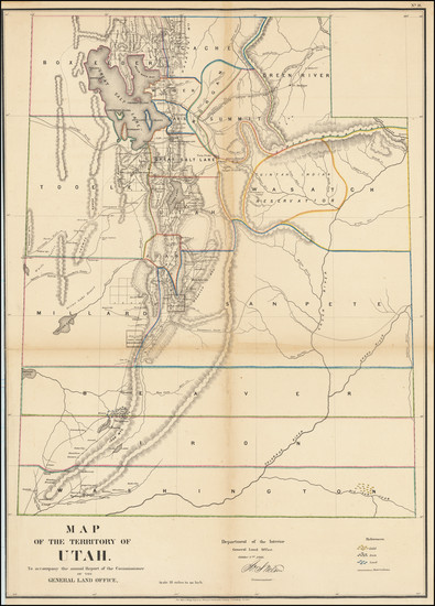 32-Utah and Utah Map By General Land Office