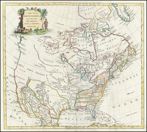 0-United States and North America Map By Thomas Conder