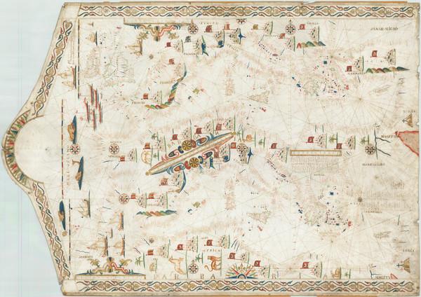 99-Mediterranean Map By Placido Caloiro e Oliva / Joan Oliva