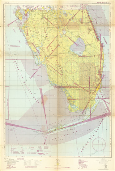 72-Florida and World War II Map By U.S. Coast & Geodetic Survey