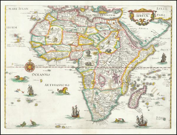 20-Africa Map By Matthaus Merian