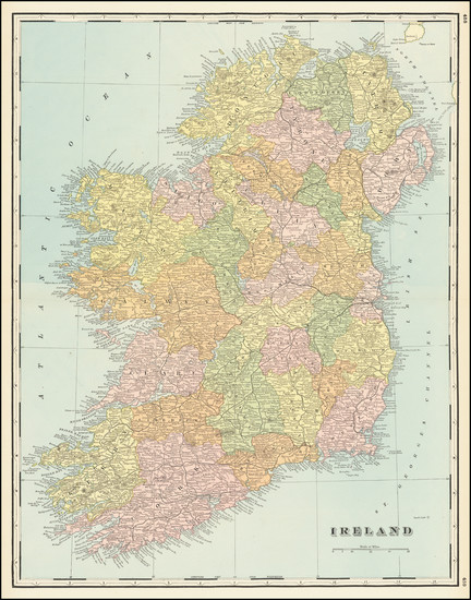 27-Ireland Map By George F. Cram