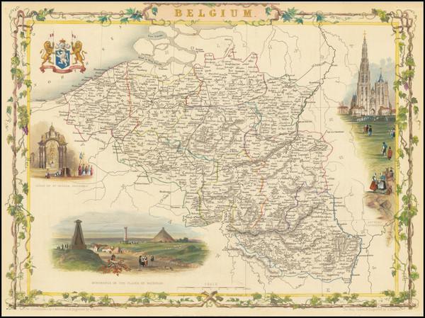 64-Belgium Map By John Tallis