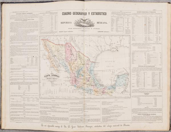 71-Mexico and Atlases Map By Antonio Garcia y Cubas