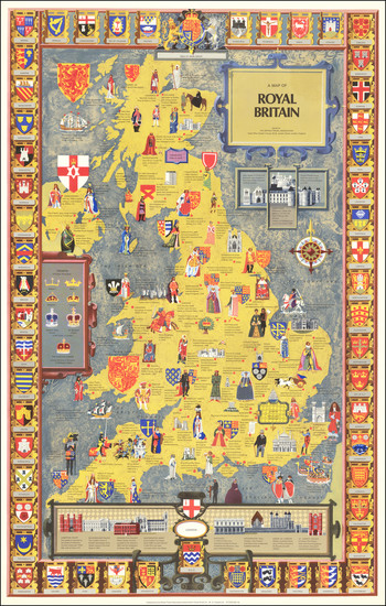 43-British Isles, England and Pictorial Maps Map By British Travel Association