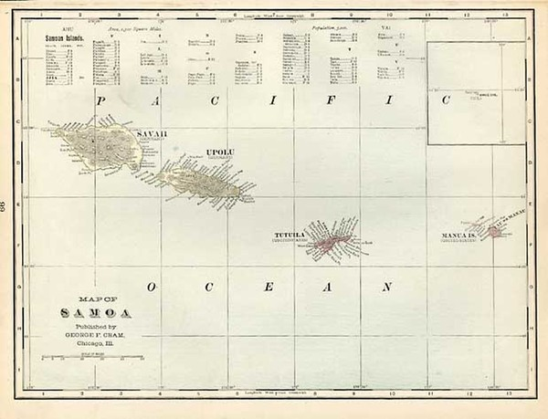 53-Australia & Oceania and Other Pacific Islands Map By George F. Cram
