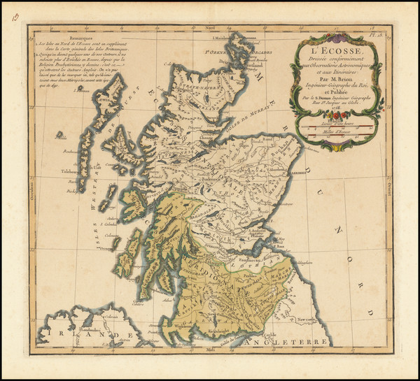 21-Scotland Map By Louis Brion de la Tour