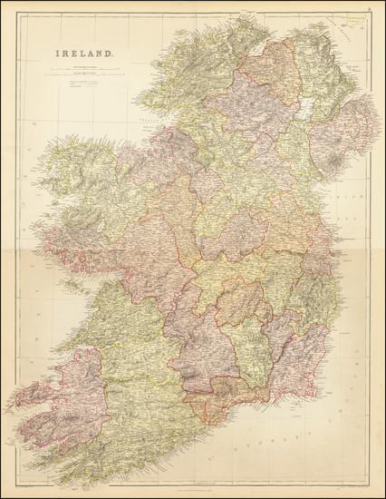 65-Ireland Map By Edward Weller