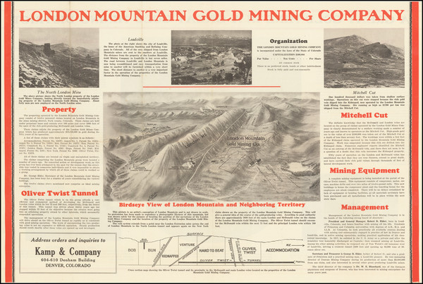 85-Colorado and Colorado Map By London Mountain Gold Mining Company