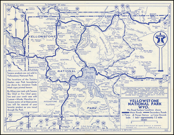 92-Montana and Wyoming Map By Rand McNally & Company