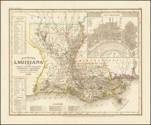 39-Louisiana Map By Joseph Meyer  &  Carl Radefeld
