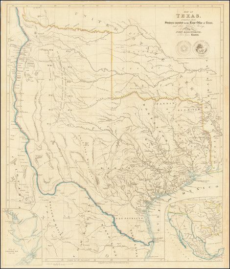 54-Texas and Southwest Map By John Arrowsmith