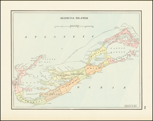 44-Bermuda Map By George F. Cram