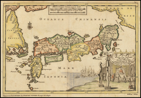30-Japan and Korea Map By Pieter van der Aa