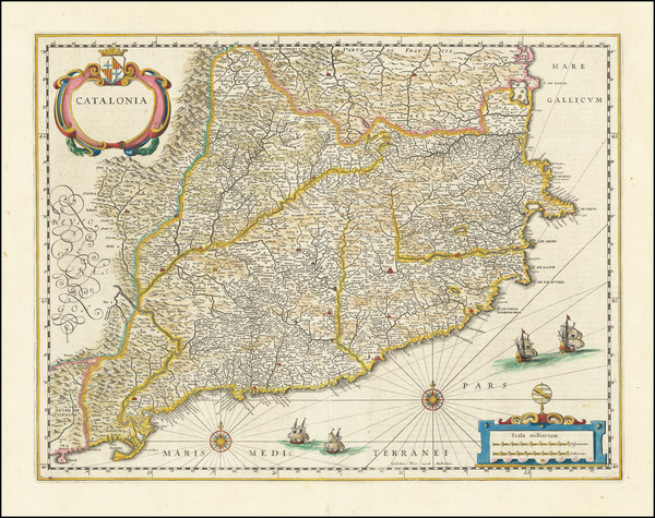 12-Spain Map By Willem Janszoon Blaeu
