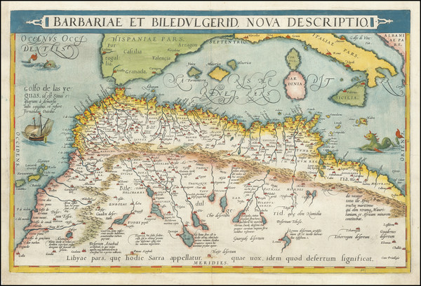 12-North Africa Map By Abraham Ortelius