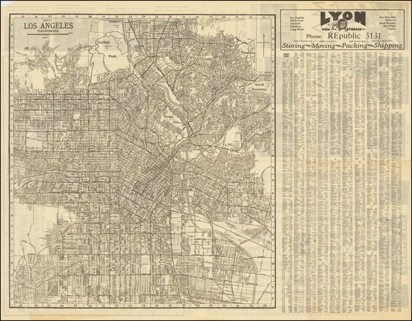 9-Los Angeles Map By E.F. Hill