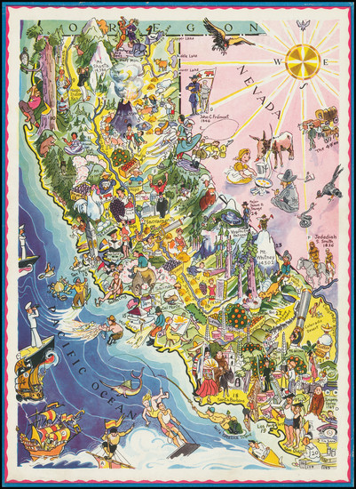 67-Pictorial Maps and California Map By Berta and Elmer Hader