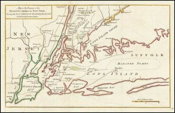 63-New York City, New York State and New Jersey Map By London Gazette