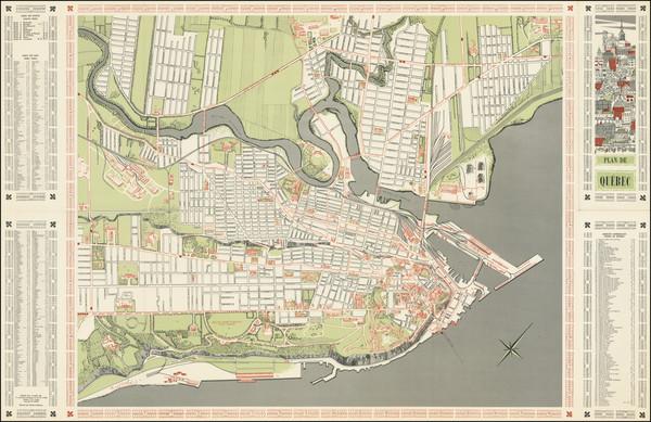 92-Pictorial Maps and Quebec Map By Claude LeSauteur