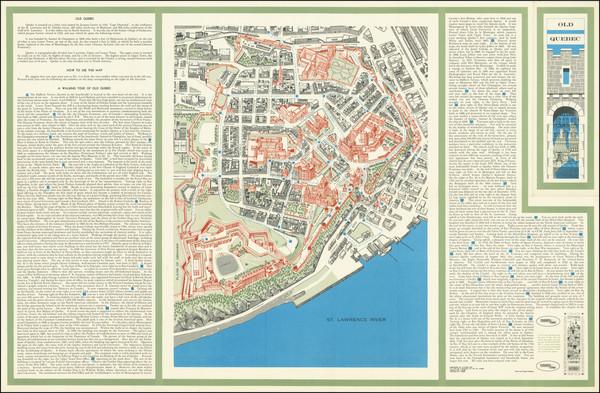 84-Pictorial Maps and Quebec Map By Claude LeSauteur