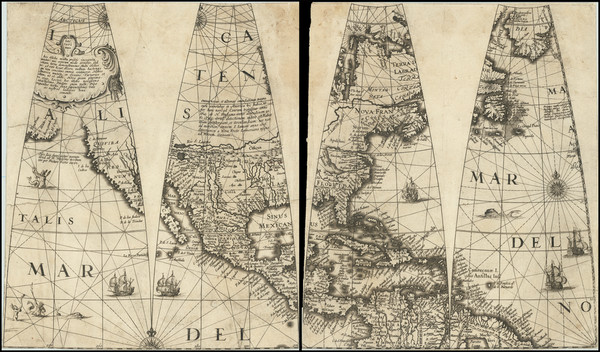 3-Virginia and North America Map By Jan Jansson / Abraham Goos / Jodocus Hondius II
