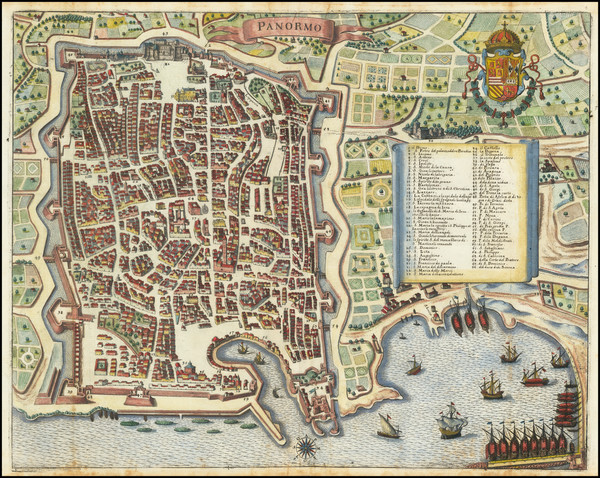 44-Other Italian Cities Map By Matthaus Merian
