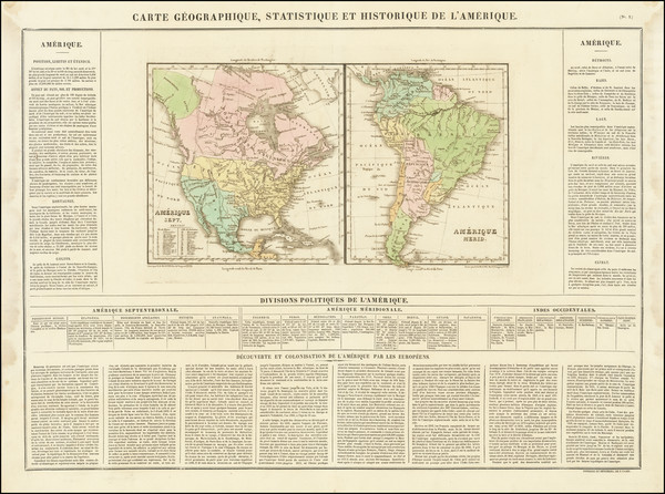 14-North America, South America and America Map By Jean Alexandre Buchon
