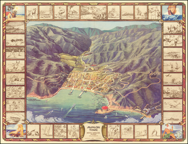 30-Pictorial Maps, California and Other California Cities Map By L.C.B. Co.
