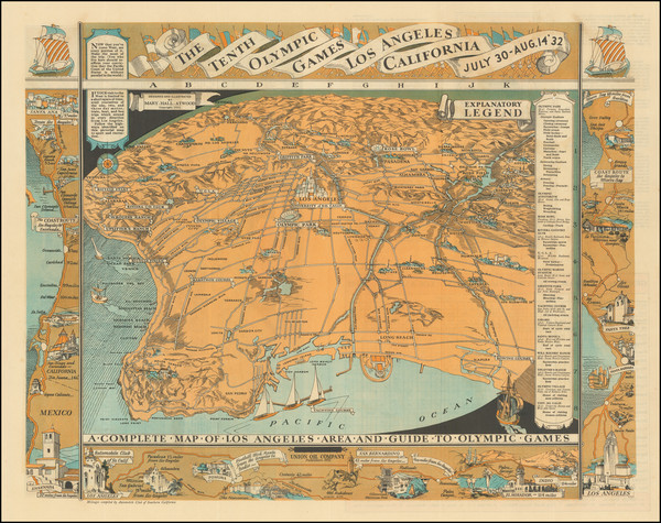 1-Pictorial Maps, California and Los Angeles Map By Mary Hall Atwood