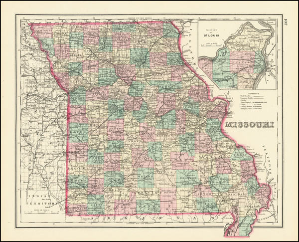 31-Missouri Map By O.W. Gray