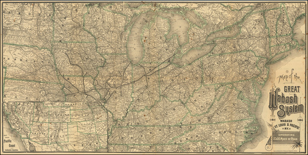 84-United States Map By Rand McNally & Company