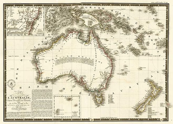 92-Australia & Oceania, Australia, Oceania, New Zealand and Other Pacific Islands Map By Alexa