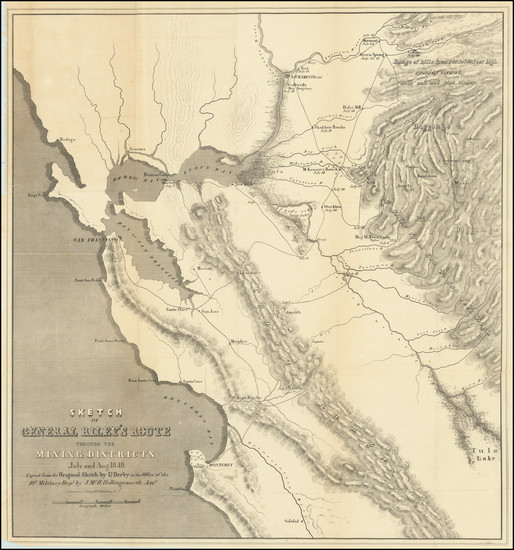 41-California Map By George Derby  &  J.McH. Hollingsworth