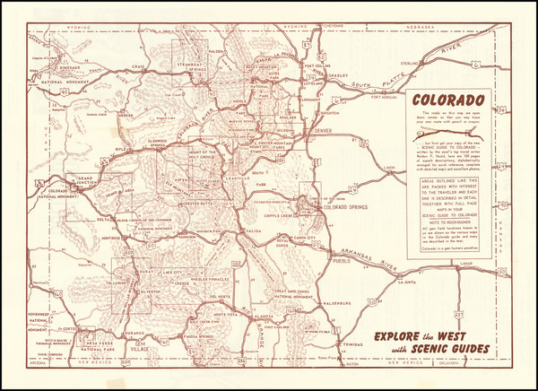 52-Colorado, Colorado and Pictorial Maps Map By Anonymous